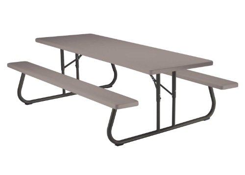 Lifetime 80123 Folding Picnic Table And Benches 8 Feet