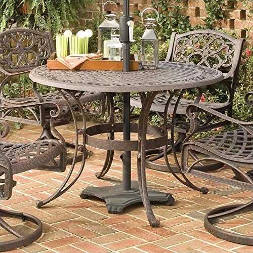 Home Style 5555 30 Biscayne Round Outdoor Dining Table