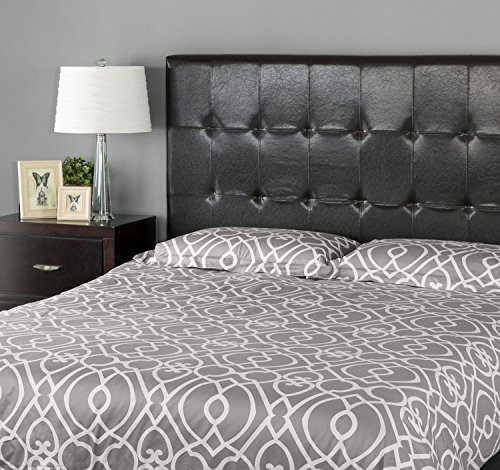 Zinus Faux Leather Upholstered Square Tufted Headboard
