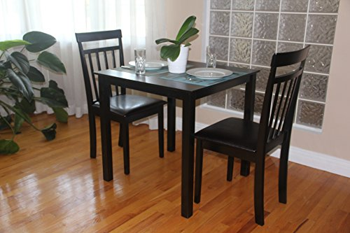 3 Pc Dining Room Dinette Kitchen Set Square Table And 2