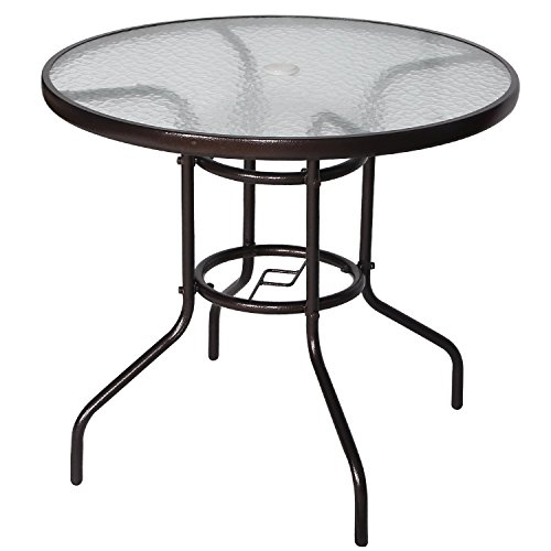 Cloud Mountain 32 Patio Tempered Glass Dining Table