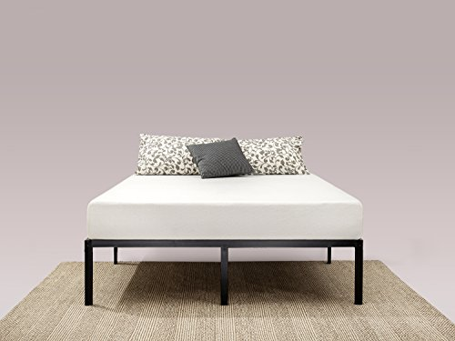 zinus 14 inch classic metal platform bed frame with steel slat support mattress foundation. Black Bedroom Furniture Sets. Home Design Ideas