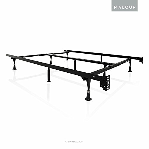 Structures By Malouf Heavy Duty 9 Leg Adjustable Metal Bed