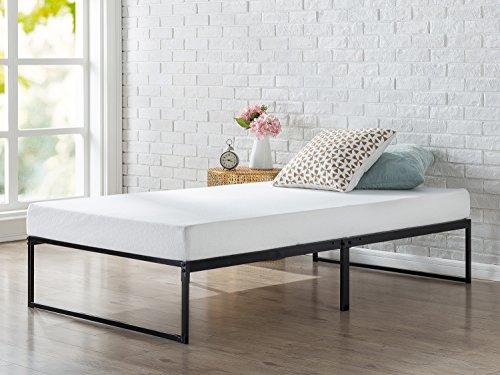 zinus 12 inch platforma bed frame mattress foundation no box spring needed metal slat. Black Bedroom Furniture Sets. Home Design Ideas