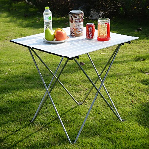 Kseven Aluminum Portable Roll Up Folding Table With