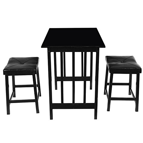Giantex 3 Pcs Counter Height Dining Set Faux Marble Table
