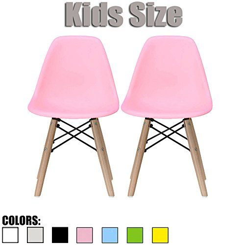 Pink – Kids Size Eames Side Chairs Eames Chairs Pink Seat Natural ...