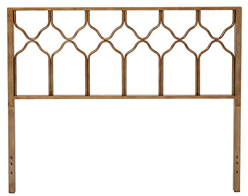 Honeycomb Deluxe Headboard Brushed Gold King Luckytaker