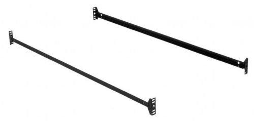 75 inch 140h black bed frame side rails with hook on brackets for headboards and footboards. Black Bedroom Furniture Sets. Home Design Ideas