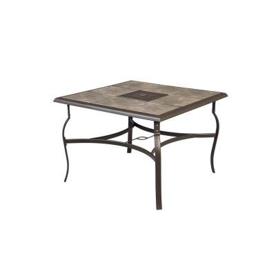belleville 40 inch square patio dining table luckytaker. Black Bedroom Furniture Sets. Home Design Ideas