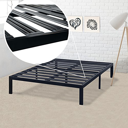 best price mattress model e heavy duty steel slat platform bed frame box spring replacement. Black Bedroom Furniture Sets. Home Design Ideas