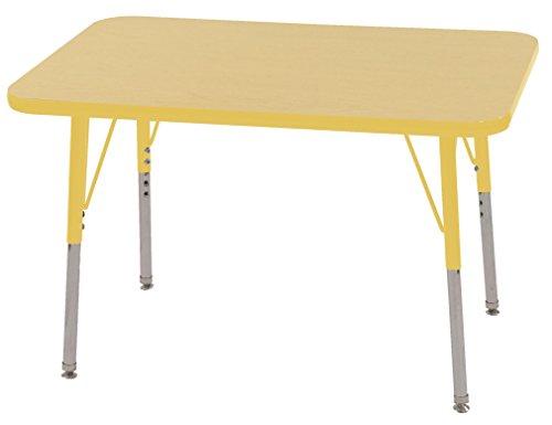 Ecr4kids t mold 24 x 36 rectangular activity school for 10 inch table legs