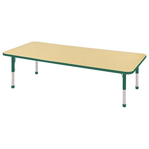 Ecr4kids t mold 24 x 72 rectangular activity school for 10 inch table legs