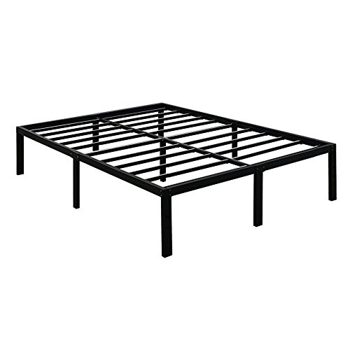 3000lbs max weight capacity tatago 16 inch tall heavy duty metal platform bed frame mattress. Black Bedroom Furniture Sets. Home Design Ideas