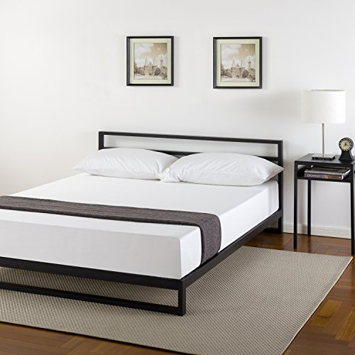 Zinus 7 Inch Platforma Bed Frame With Headboard Mattress