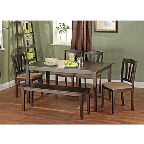 Metropolitan Brown/Espresso 6-Piece Dining Set With Table