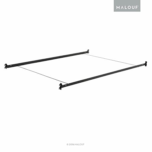 structures hook in metal bed rail system with cross wires twin full luckytaker. Black Bedroom Furniture Sets. Home Design Ideas