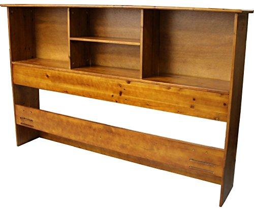 Cal King Bookcase Headboard: Stockholm Bamboo Solid Bookcase Headboard, King-size