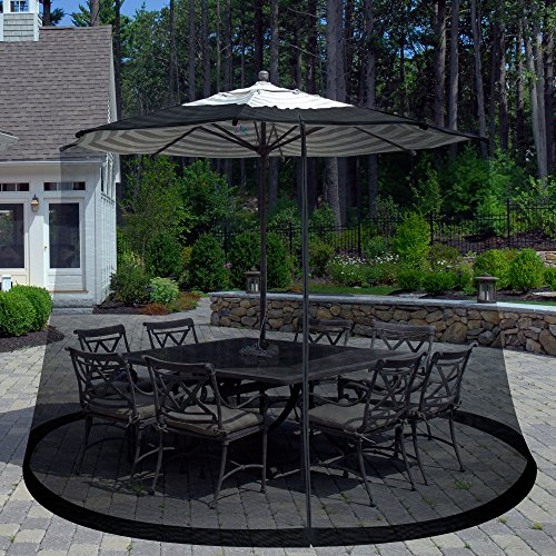 Ideaworks Outdoor 9 Foot Umbrella Table Screen Grey