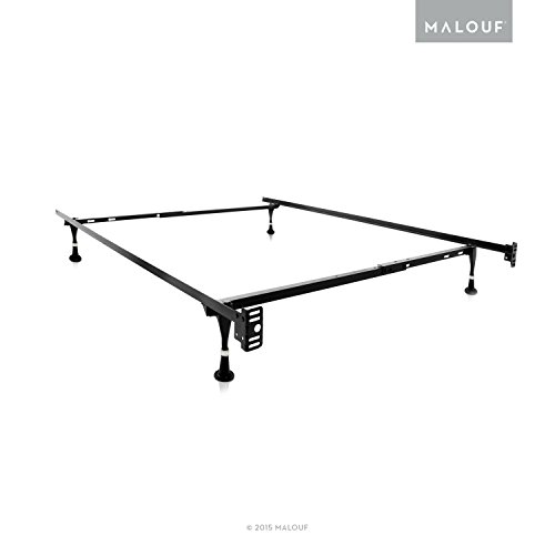 Structures Twin Full Adjustable Metal Bed Frame With In