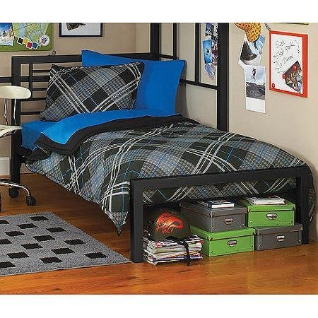 Black Metal Full Size Platform Bed Black Furniture