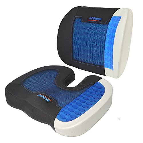 acdelco cool therapy cooling gel seat cushion premium memory foam combo pack luckytaker. Black Bedroom Furniture Sets. Home Design Ideas