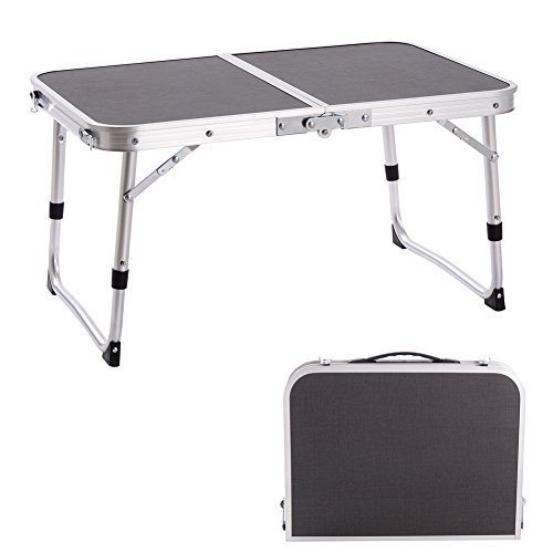 Campland aluminum height adjustable folding table camping outdoor lightweight for beach - Camping table adjustable height ...