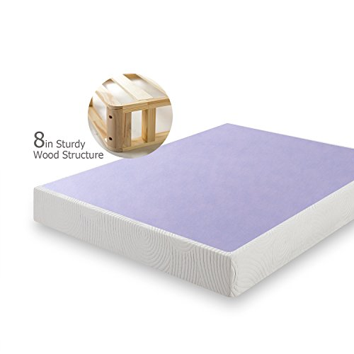 Zinus 8 Inch Profile Wood Box Spring Mattress Foundation