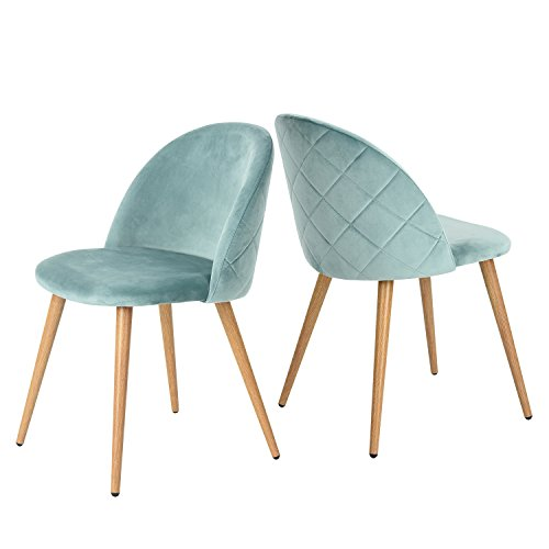 greenforest living room leisure chair wood legs velvet fabric cushion seat mental wood legs. Black Bedroom Furniture Sets. Home Design Ideas