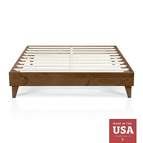 Wood Platform Bed Frame California King Size Cal King