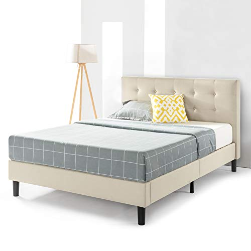 Liz Upholstered Platform Beds With Tufted Headboard And