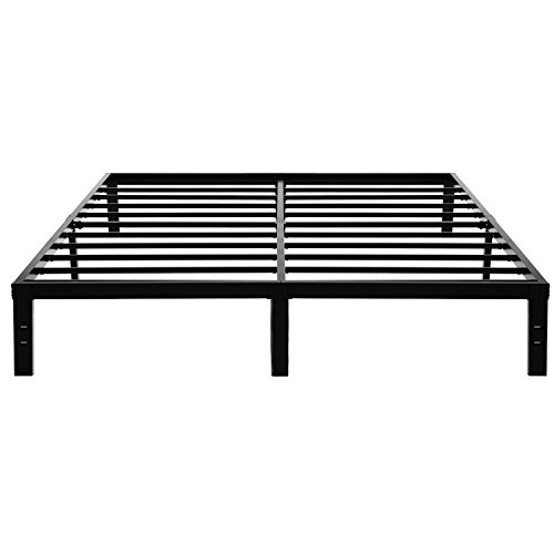 Homus King Platform Bed Frame Heavy Duty 14 Inch Steel