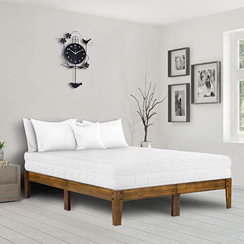 Ecos Living 14 Inch Solid Wood Platform Bed With Natural