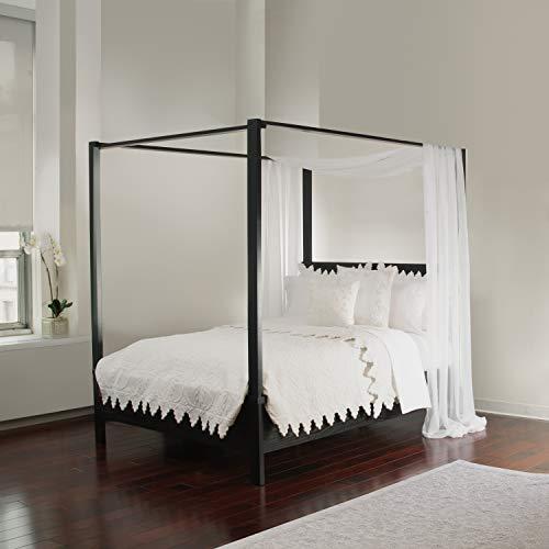 Novogratz Marion Canopy Bed Frame Gold King Luckytaker