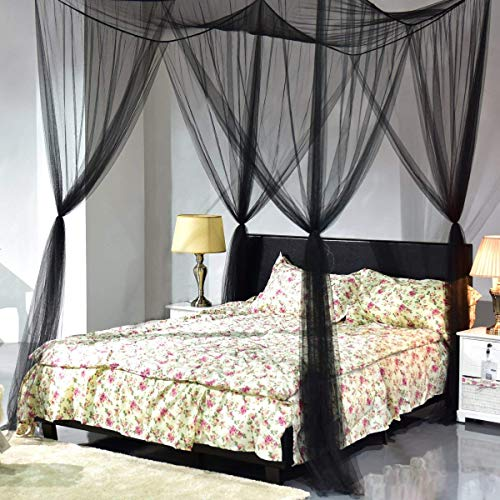 Best Choice Products Modern 4 Post Canopy Queen Bed W